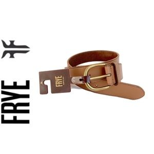 NWT FRYE genuine leather belt tan